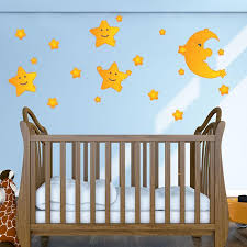 Moon And Stars Wall Decal Style And Apply