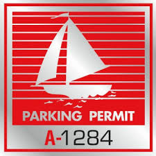 Parking Permit Window Stickers Red Silver Foil Boat Package Of 100 Hd Supply