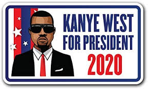 Amazon Com Customi 6 4 X 3 8 Kanye West For President Bumper Sticker Decal 2024 United States Presidential Election Candidate 1 Pack Automotive