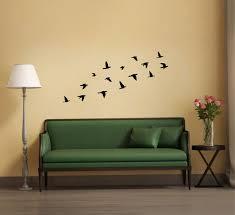 Bird Wall Decor Flying Birds Wall Sticker Silhouette Flock Of Etsy