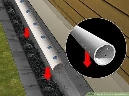 how to install a french drain with