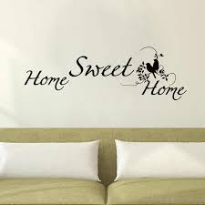 Zooyoo Wall Decals Home Sweet Home Wall Sticker Vinyl Removable Double Birds Wall Decals Living Room Bedroom Decoration Bedroom Decor Bird Wall Decalwall Decals Aliexpress