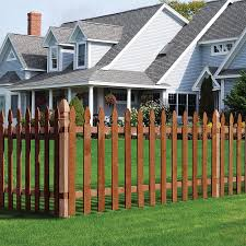 3 5 Ft H X 8 Ft W Pressure Treated Incense Cedar French Gothic Fence Panel In The Wood Fence Panels Department At Lowes Com