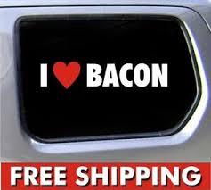 I Heart Bacon Sticker 6 Love Vinyl Car Window Jdm Funny Decal Ebay