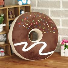 cute chocolate pink donut pillows