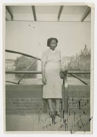 Ida Johnson poses next to a canal in The Hague. - Collections ...