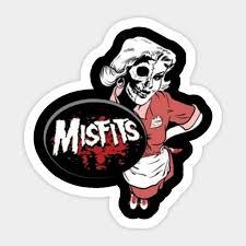 Misfits Halloween Women Costum Misfits Sticker Teepublic