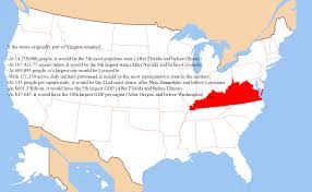 If Kentucky and West Virginia rejoined Virginia to form a Super Virginia  [OC][1494x924] : MapPorn