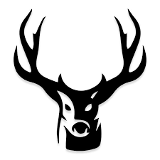 Deer Hunting Antlers Decal Sticker For Trucks Decalfly