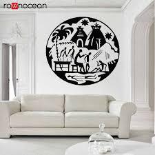 Africa African Village Continent Savanna Animals Elephant Giraffe Vinyl Wall Sticker Home Decor Living Room Decals Mural 3294 Wall Stickers Aliexpress