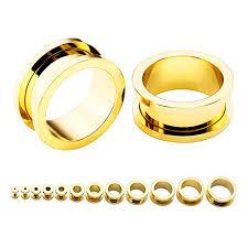 whole gold ear plug gauges