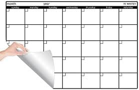 Amazon Com Peel And Stick Whiteboard Calendar Large Monthly Calendar 24 X 36 In Stain Proof White Board Wall Organizer And Reusable Adhesive Backing Wall Calendars Office Products