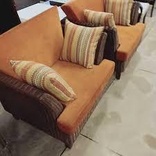 brown designer cane sofa set for home