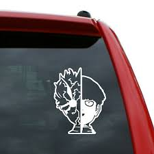 Mob Psycho 100 Vinyl Decal Sticker Color White 5 Inch Tall Ebay