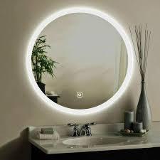 hotel frameless illuminated bathroom