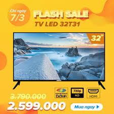 Mua Tivi LED HD 32 Inch Asanzo 32T31 (AV, HDMI, VGA, DVB-T2, DVB-C ...