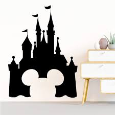 Disney Castle Mickey Mouse Window Decal Wall Sticker Home Decor Art Mural 3