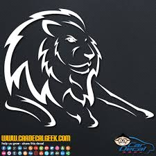 Amazing Lion Car Decal Sticker Wildlife Decals