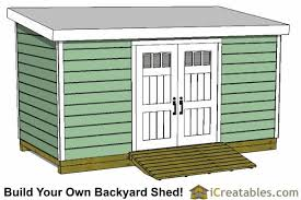 8x14 lean to shed plans storage shed