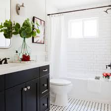 75 Beautiful Black And White Tile Bathroom Pictures Ideas October 2020 Houzz