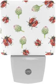Summer Star Ladybug Plug In Night Light Dimmable Led Night Lights With Dusk To Dawn Sensor For Nursery Kids Room Hallway Kitchen Bedroom Bathroom Amazon Com