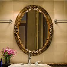 european retro oval bathroom mirror
