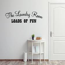 Vwaq The Laundry Room Loads Of Fun Decal Laundry Room Decals Room Decor Sayings 593 Walmart Com Walmart Com