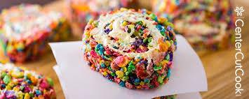 rainbow rice krispie pinwheels recipe