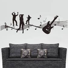 Music Vinyl Wall Decal Girls Boy Dancing Note Guitar Music Wall Sticker Band Room Wall Sticker Coffee Shop Bedroom Decoration Bedroom Decor Music Wall Stickervinyl Wall Decals Aliexpress