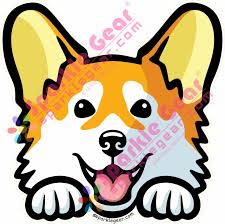 Corgi Window Sticker Sparkle Gear