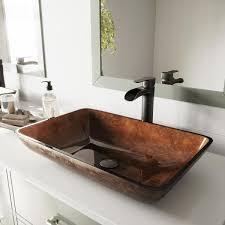 vigo glass vessel bathroom sink in