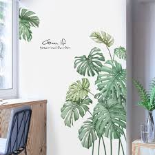 Dropshipping Diy Beach Tropical Palm Leaves Wall Stickers Modern Art Vinyl Decal Wall Mural Wall Stickers Aliexpress