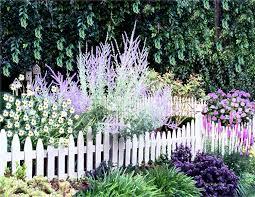 White Garden Fence Border Garden Design Ideas