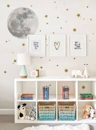 Moon And Stars Wall Sticker And Wall Decals Kids Room Wall Stickers Kids Room Wall Kid Room Decor