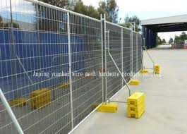 Removable Temporary Security Fencing Galvanized Welded Wire Mesh Panels