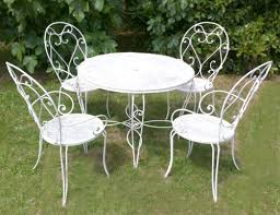 vintage french garden chairs and stool