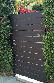 modern redwood gate 1 x 6 horizontal
