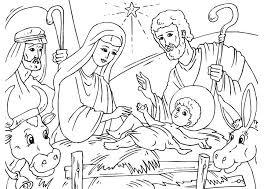 Buntute Rodo Oren Sitik Kleurplaat Kerststal