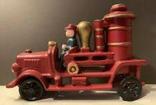 cast iron fireman toy ebay