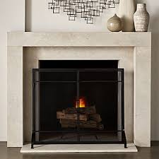 fireplace screens crate and barrel