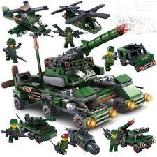 Bộ Đồ Chơi Lego Pháo Đài Quân Đội 6 Trong 1 Cao Cấp, Nhựa ABS - Đồ Chơi  Phát Triển Trí Tuệ