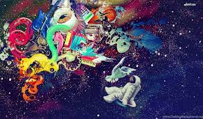 trippy astronaut wallpapers page 3