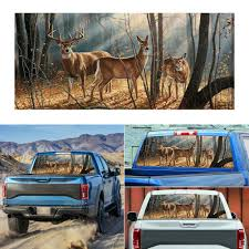 New Car Pickup Suv Rear Window Graphic Decal Forest Animals Deer Family Sticker Archives Midweek Com