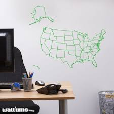 United States Map Wall Decal Usa Wall Sticker Wallums