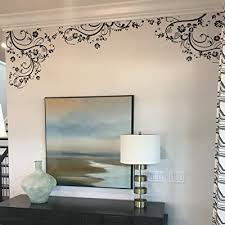 Flower Decals For Nursery Living Room Bedroom Girls Room Kids Room 100 X 29 Black Edge Wall Decal Removable Wall Decal Sticker Buy Products Online With Ubuy Kuwait In Affordable Prices B002up9pou