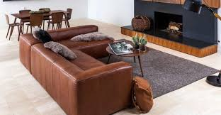 my new article leather sectional and