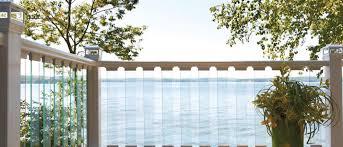 glass balcony railing deck