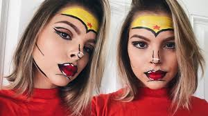 wonder woman halloween makeup tutorial