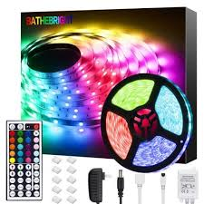 bathebright led strip lights 16 4ft rgb