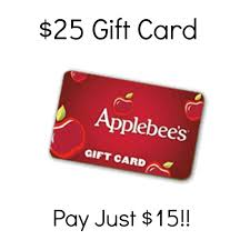 25 applebee s gift card just 15